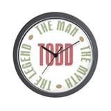 Todd Man Myth Legend Wall Clock