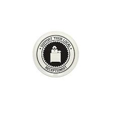 Support Receptionist Mini Button