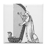 Ancient Egyptian Harpist Tile Coaster