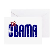 OBAMA Distressed 3 Greeting Card