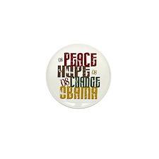 Peace Hope Change Obama 1 Mini Button (10 pack)