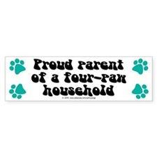 Four-paw household Bumper Bumper Sticker