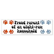 Eight-paw household Bumper Bumper Sticker