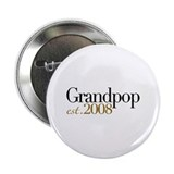 "New Grandpop est 2008 2.25"" Button (10 pack)"