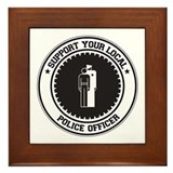 Support Police Officer Framed Tile