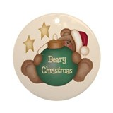 Beary Christmas Ornament (Round)