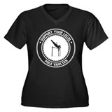Support Pole Vaulter Women's Plus Size V-Neck Dark