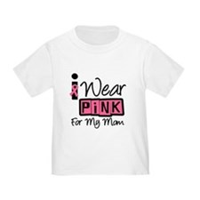 I Wear Pink Ribbon Mom T