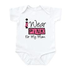 I Wear Pink Ribbon Mom Infant Bodysuit