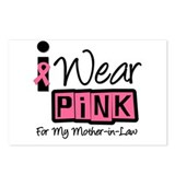 Pink Ribbon Mother-in-Law Postcards (Package of 8)