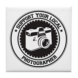 Support Photographer Tile Coaster