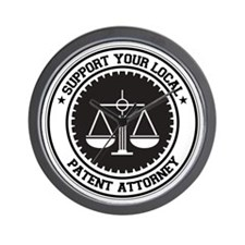 Support Patent Attorney Wall Clock