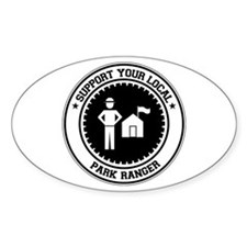 Support Park Ranger Oval Decal