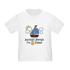 6th Birthday Sailboat Party Toddler T-Shirt