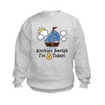 6th Birthday Sailboat Party Kids Sweatshirt