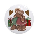 Gingerbread Love Ornament (Round)