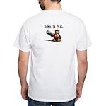 TM.org Born to Frag White T-Shirt