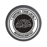 Support Neuroscientist Wall Clock