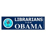 Librarians for Obama Bumper Sticker (50 pk)