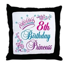 8th Birthday Throw Pillow