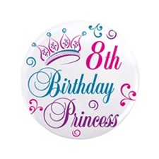 "8th Birthday 3.5"" Button (100 pack)"