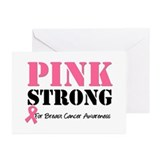 Pink Strong BCA Greeting Cards (Pk of 10)