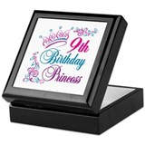 9th Birthday Princess Keepsake Box