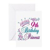 9th Birthday Princess Greeting Card