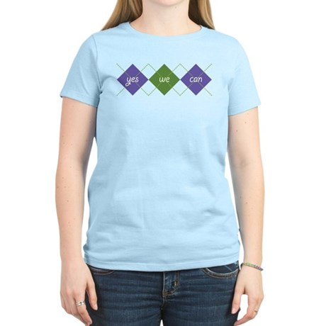 Yes We Can ARGYLE Women's Light T-Shirt
