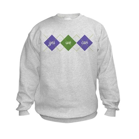 Yes We Can ARGYLE Kids Sweatshirt