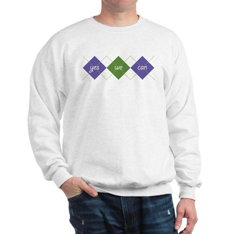 Yes We Can ARGYLE Sweatshirt