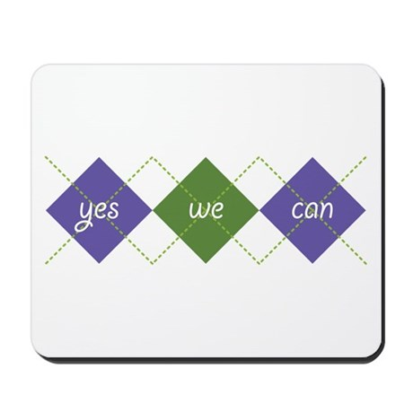 Yes We Can ARGYLE Mousepad
