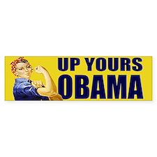 Up Yours Obama Bumper Bumper Sticker