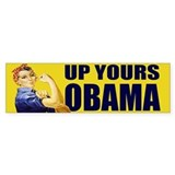 Up Yours Obama Bumper Car Sticker