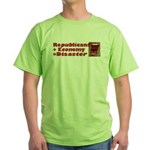 Republicans + Economy = Disas Green T-Shirt