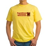 Republicans + Economy = Disas Yellow T-Shirt