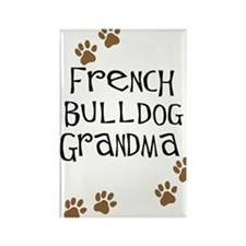 French Bulldog Grandma Rectangle Magnet