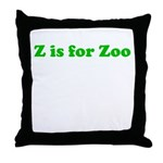 Z is for Zoo Throw Pillow
