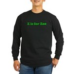 Z is for Zoo Long Sleeve Dark T-Shirt