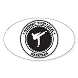 Support Karateka Oval Decal
