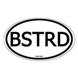 BSTRD Oval Decal