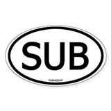 SUB Oval Decal