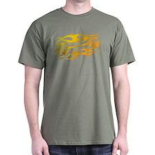 Flaming Weights T-Shirt