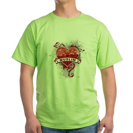 Heart Muslim Green T-Shirt