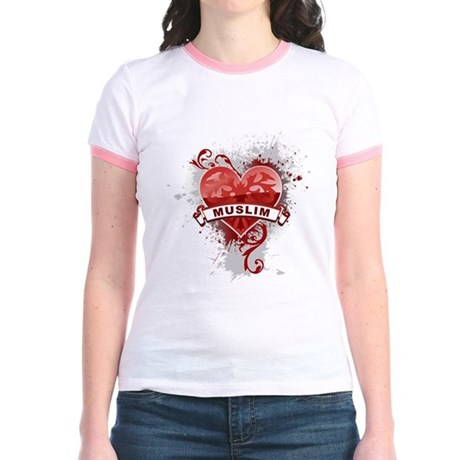 Heart Muslim Jr. Ringer T-Shirt