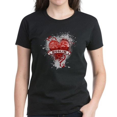 Heart Muslim Women's Dark T-Shirt