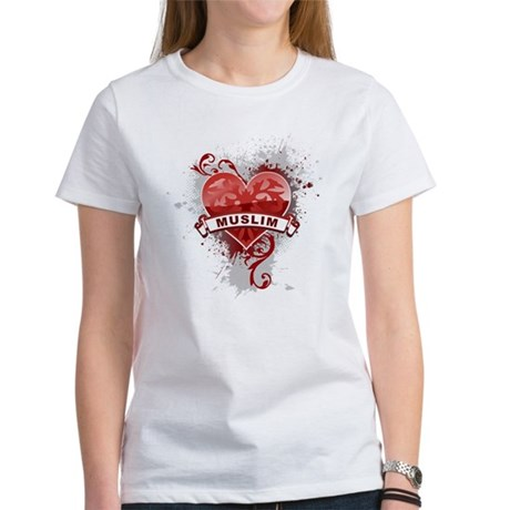 Heart Muslim Women's T-Shirt