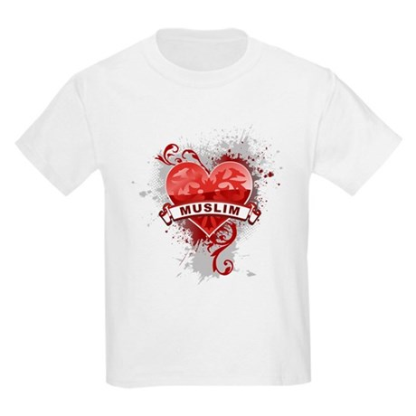 Heart Muslim Kids Light T-Shirt