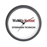 World's Hottest Veterinarian Technician Wall Clock