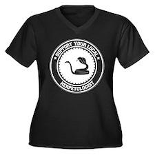 Support Herpetologist Women's Plus Size V-Neck Dar